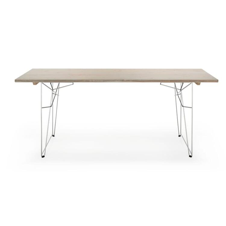 Tisch und Liege LTL Platte Achatgrau RAL 7038