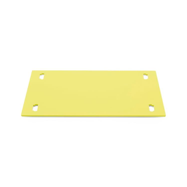 Shelf System BOUNCE Base Plate Single Width Sulfur Yellow RAL 1016