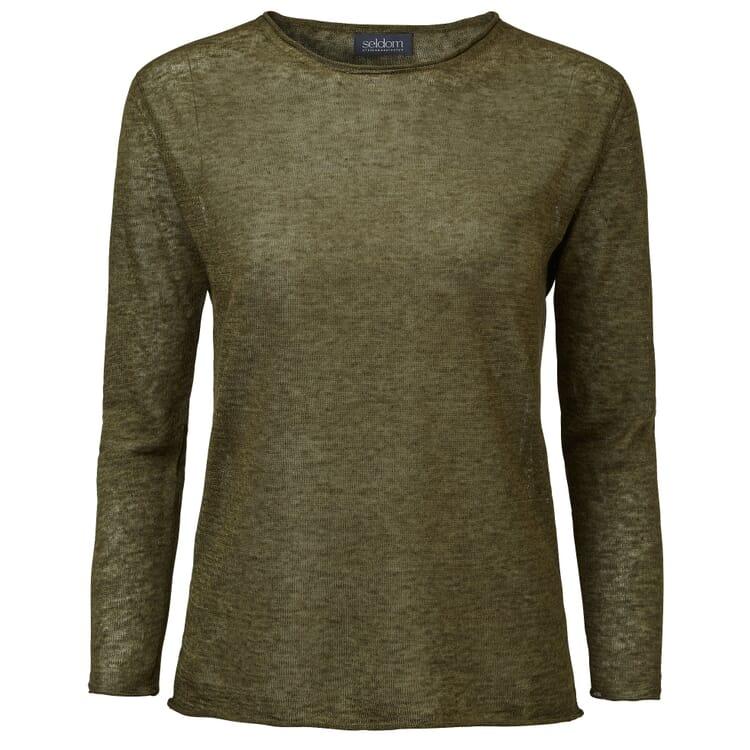 Women's Linen Sweater by Seldom, Olive