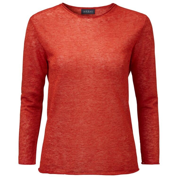 Women's Linen Sweater by Seldom, Russet