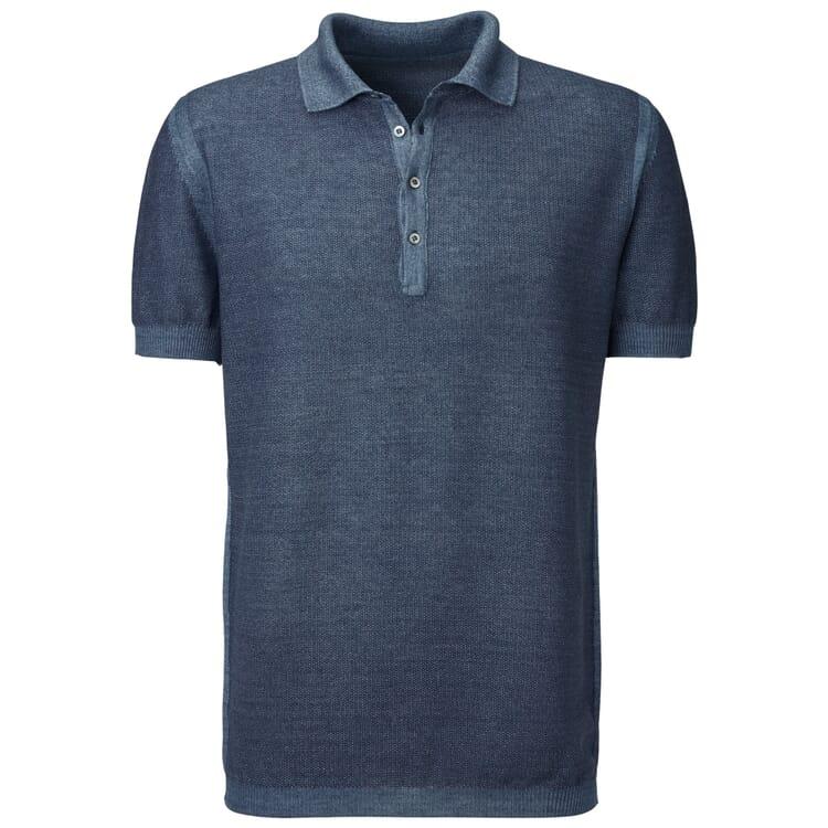 Seldom Herren-Poloshirt, Mittelblau