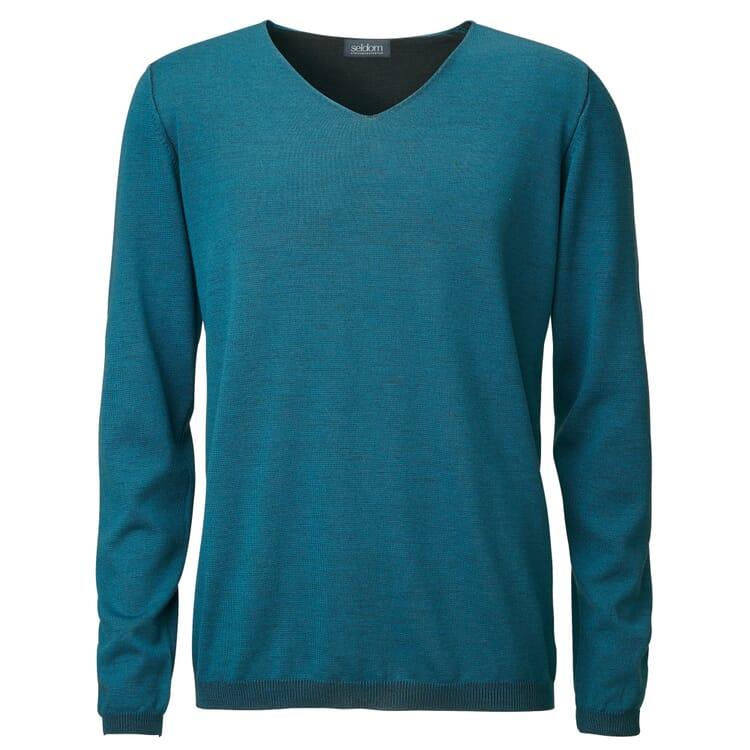 Seldom Men's Sweater V-Neck, Teal