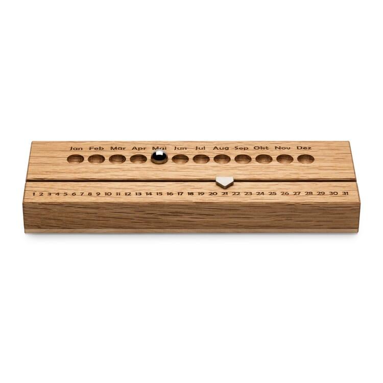 Perpetual Calendar Oak and Maple Wood