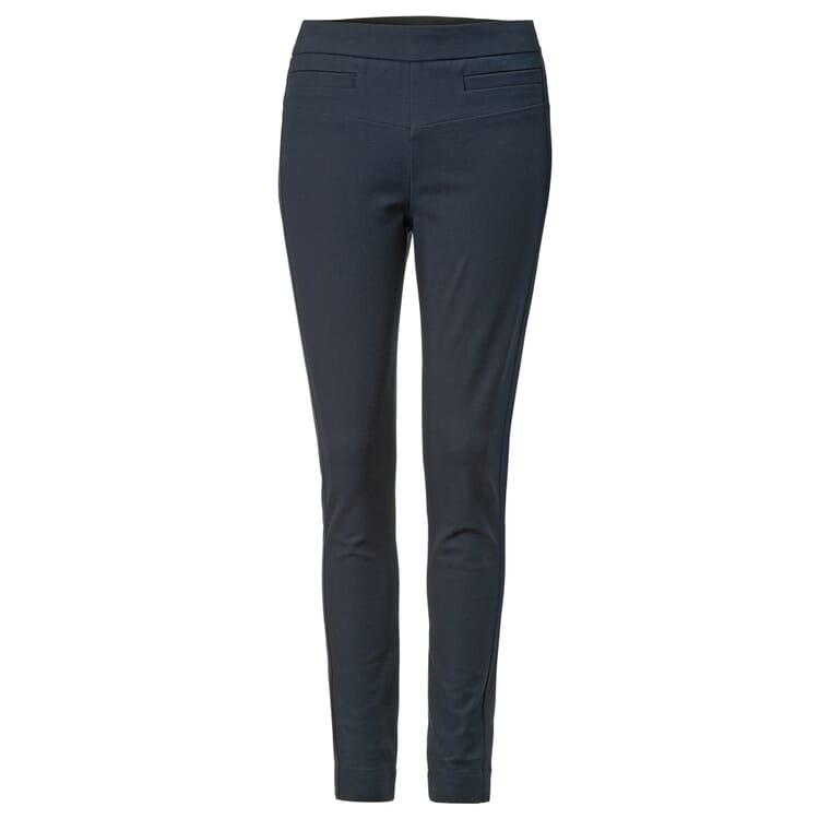 Women's Slim Fit Trousers by Lanius, Navy Blue