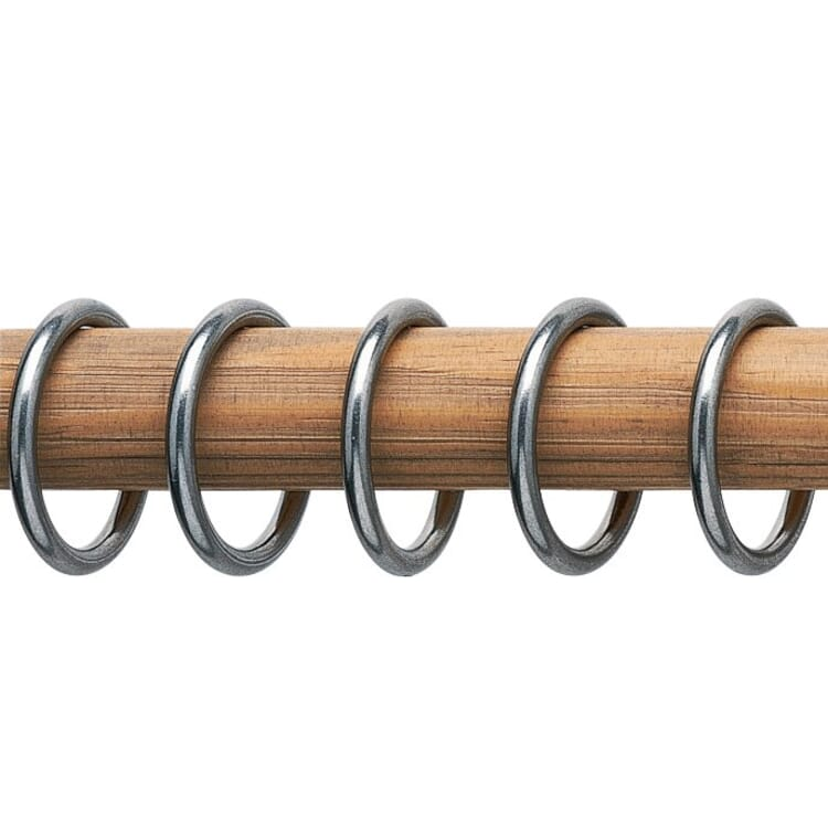 Nickel Plated Brass Curtain Rod Rings