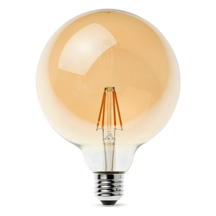 LED-Filament-Globelampe 125 mm E27 4,5 W Goldgelüstert