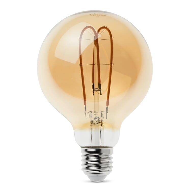 LED-Zier-Filamentlampe, Globe Schleife E27 5,5 W
