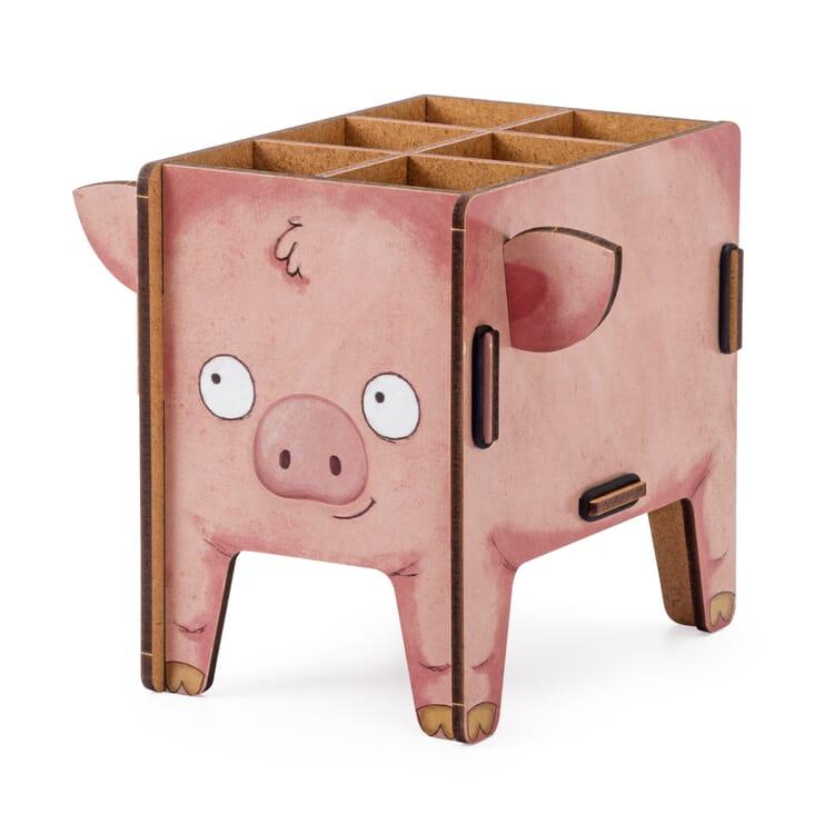 """Pencil Box """"Animal"""" by Werkhaus, Pig"""