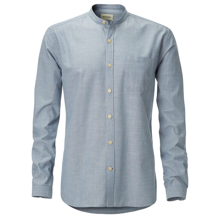 Oliver Spencer Stehkragenhemd