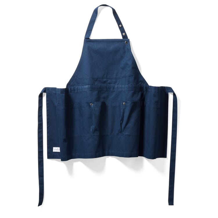 Bip Apron with Pockets, Blue