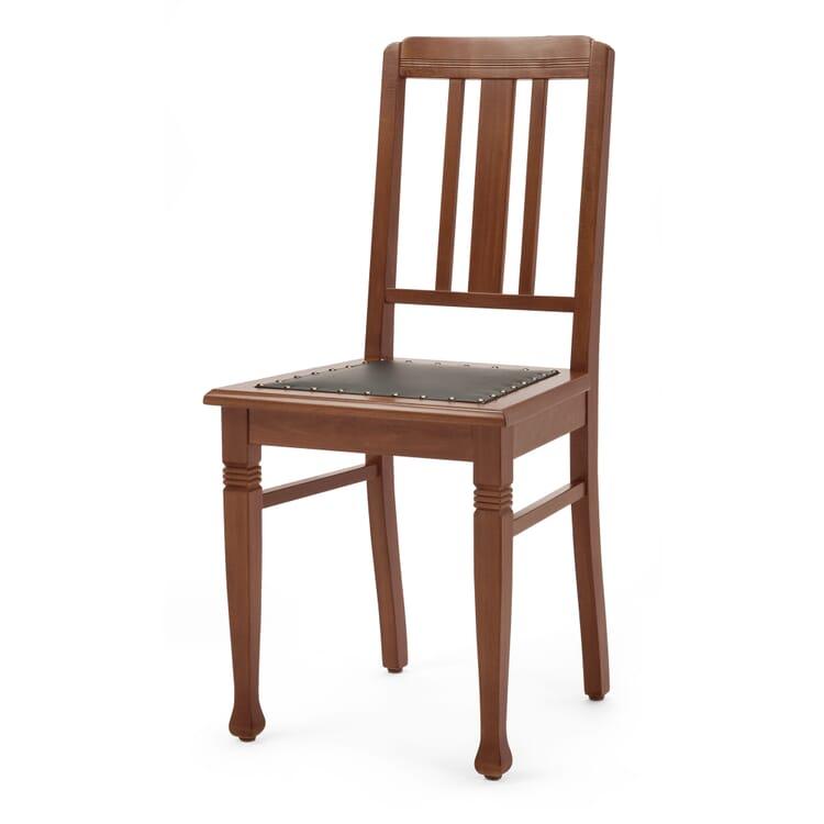 Old Nikolai School Chair, Leather