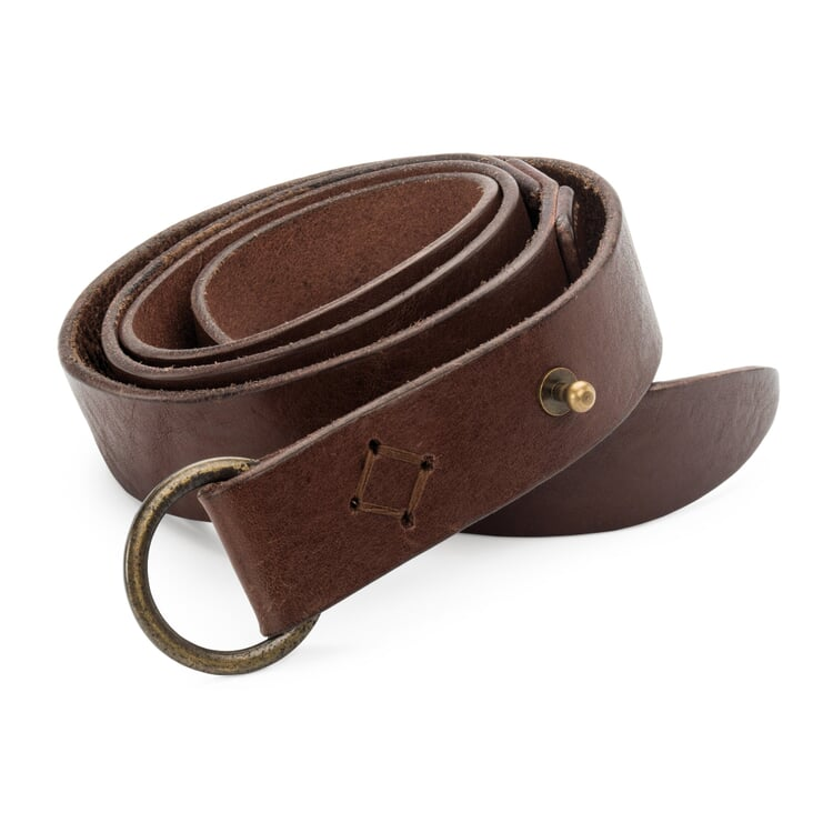 Lanius Women's Belt Cow Leather Brown
