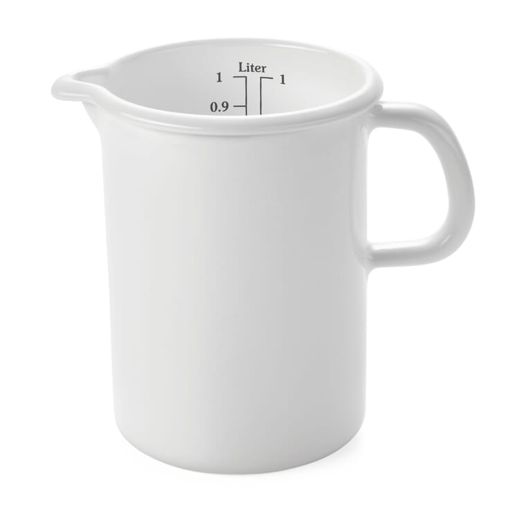 Riess Enamel Measuring Jug, Large