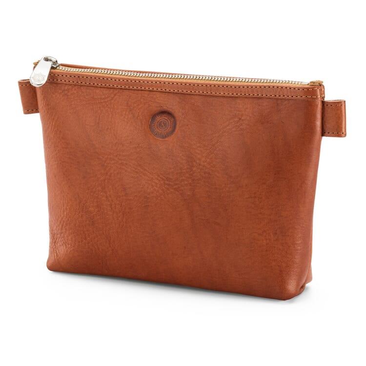 Sonnenleder Cosmetic Bag, Red-Tanned