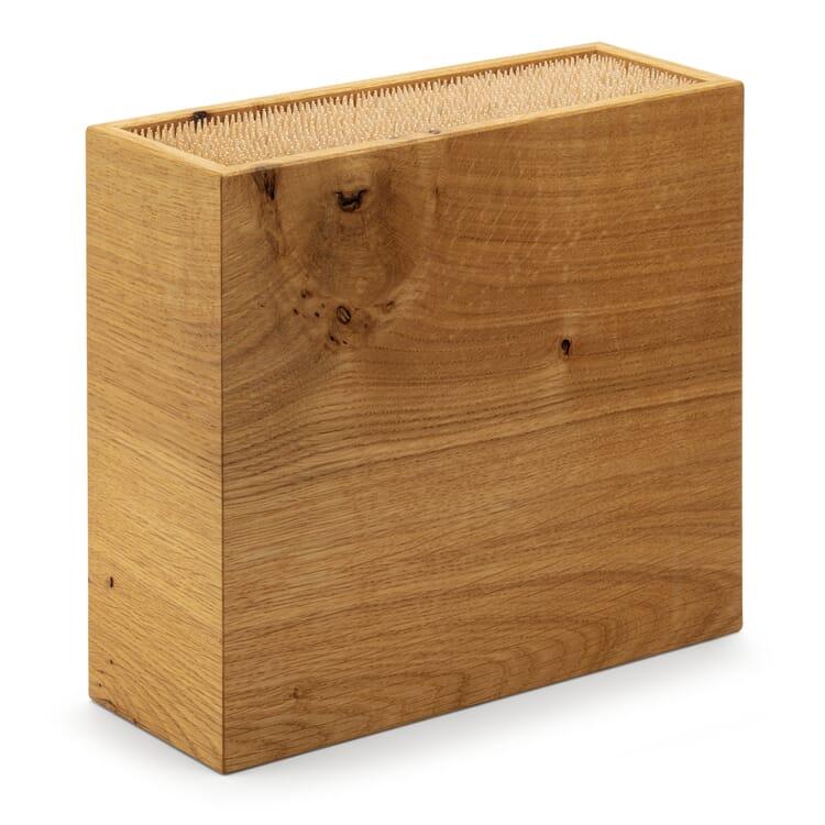 Flexible Knife Block Oak Wood, Large