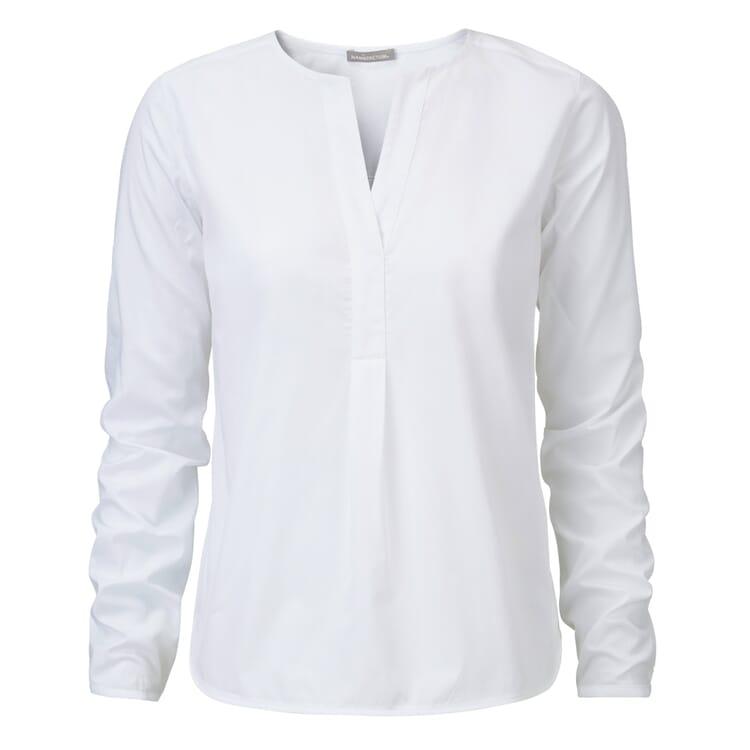 Manufactum Damen-Schlupfbluse Baumwolle, Weiß