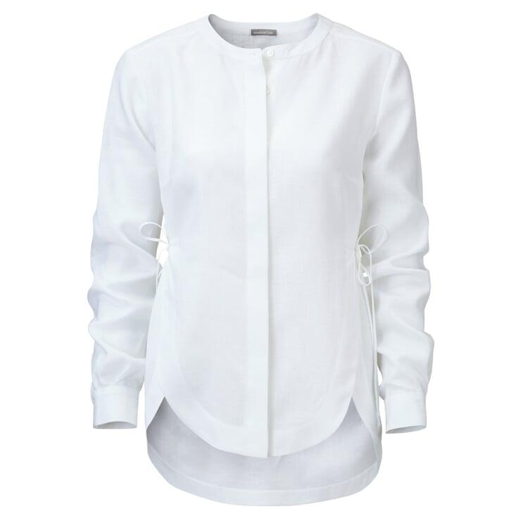 Manufactum Damen-Leinenbluse Weiß