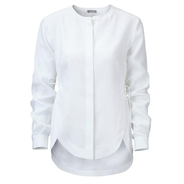 Manufactum Damen-Leinenbluse, Weiß