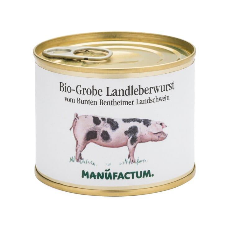Bio-Grobe Leberwurst vom Bunten Bentheimer Landschwein