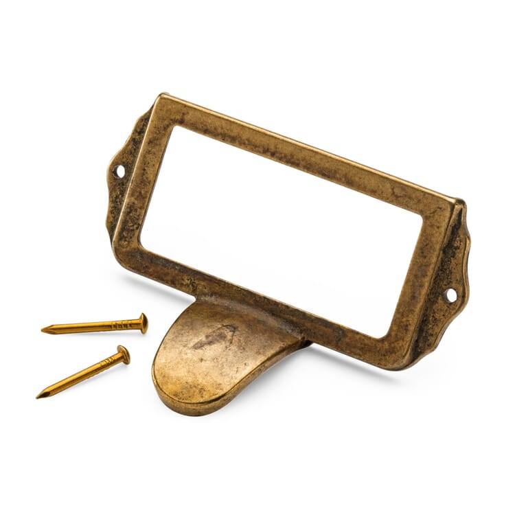 Brass Label Frame with a Handle