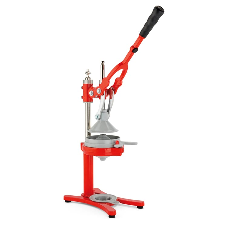 Lever-Operated Citrus Press, Red