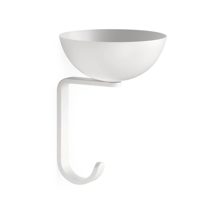 Wall Hook and Small Storage Place Nest, White