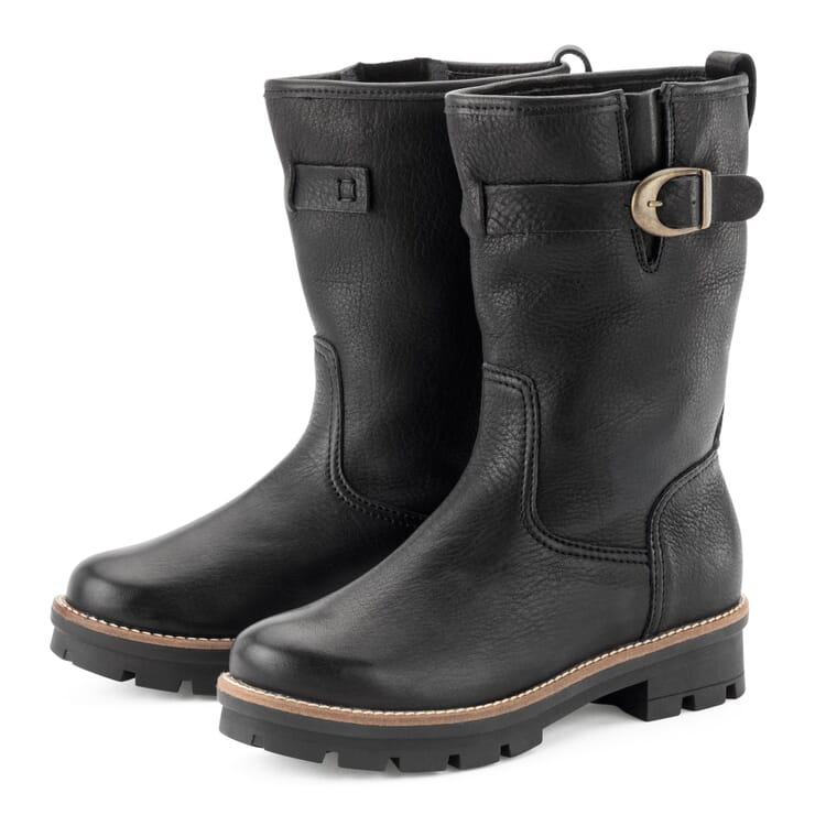 Women's Wool-Lined Cowhide Half-Boots  by Werner