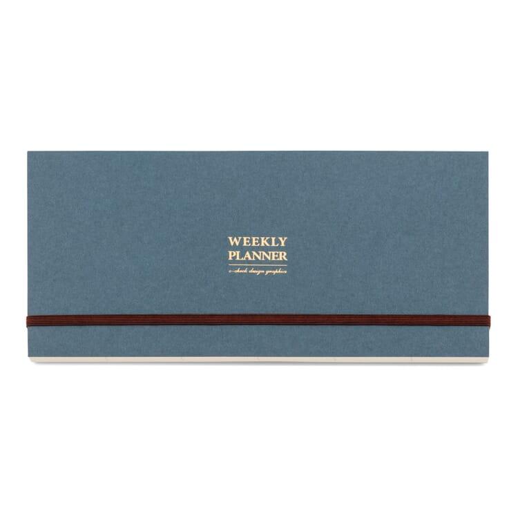 Weekly Planner in Landscape Format, Blue