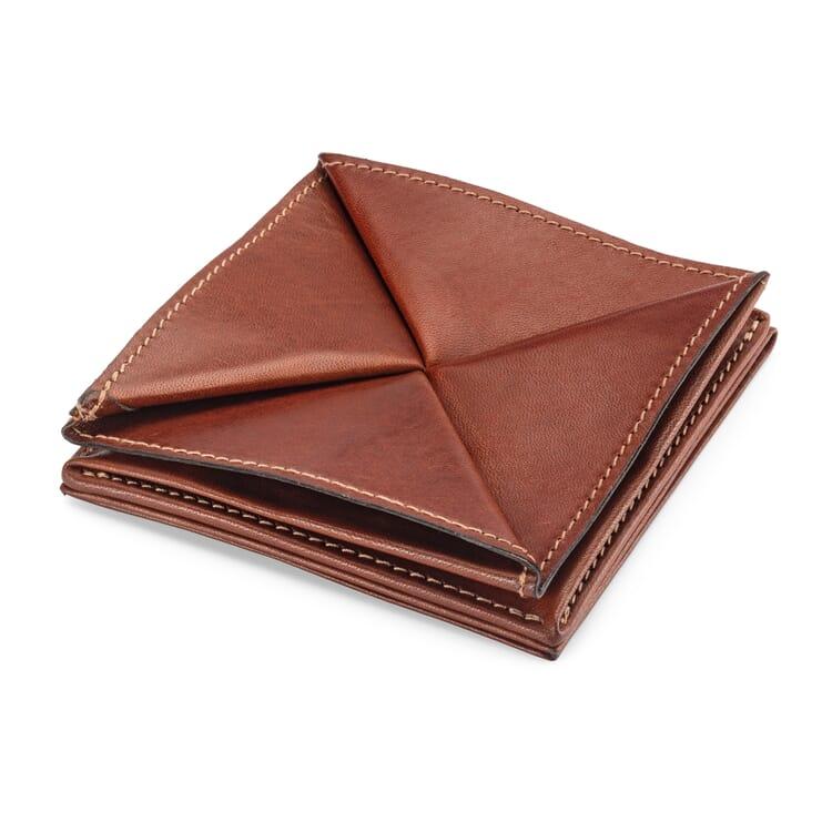 Manufactum Faltbörse mit Geldscheinfach, Braun