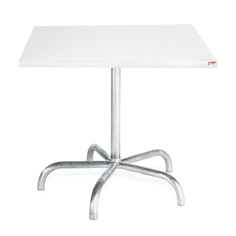 Square Table Säntis, White
