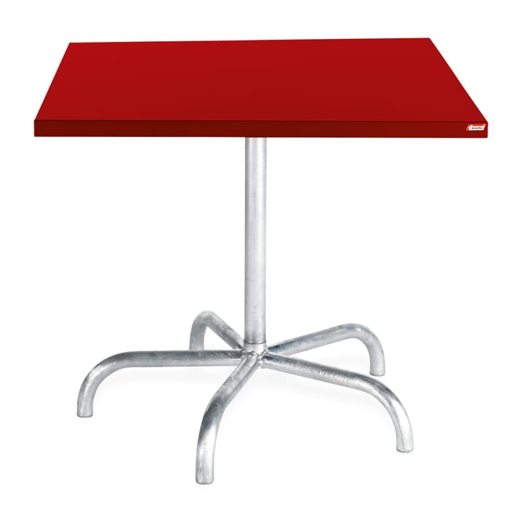 Square Table Säntis, Red