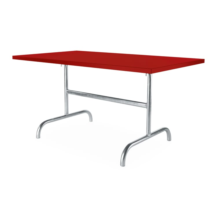 Rectangular Table Säntis, Red
