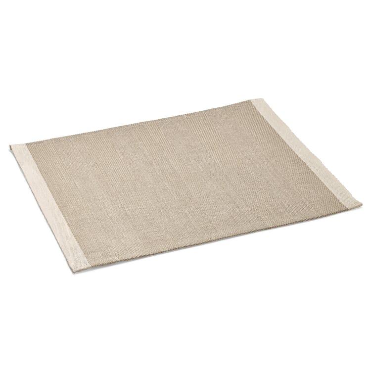 Finnish Place Mat Made of Linen, Ecru