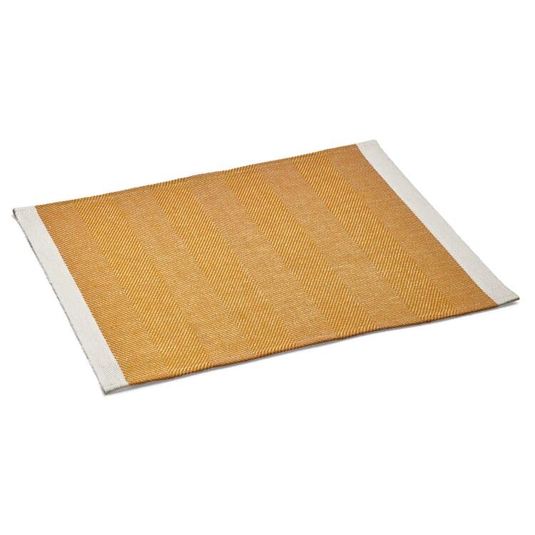 Finnish Place Mat Made of Linen, Dark Yellow