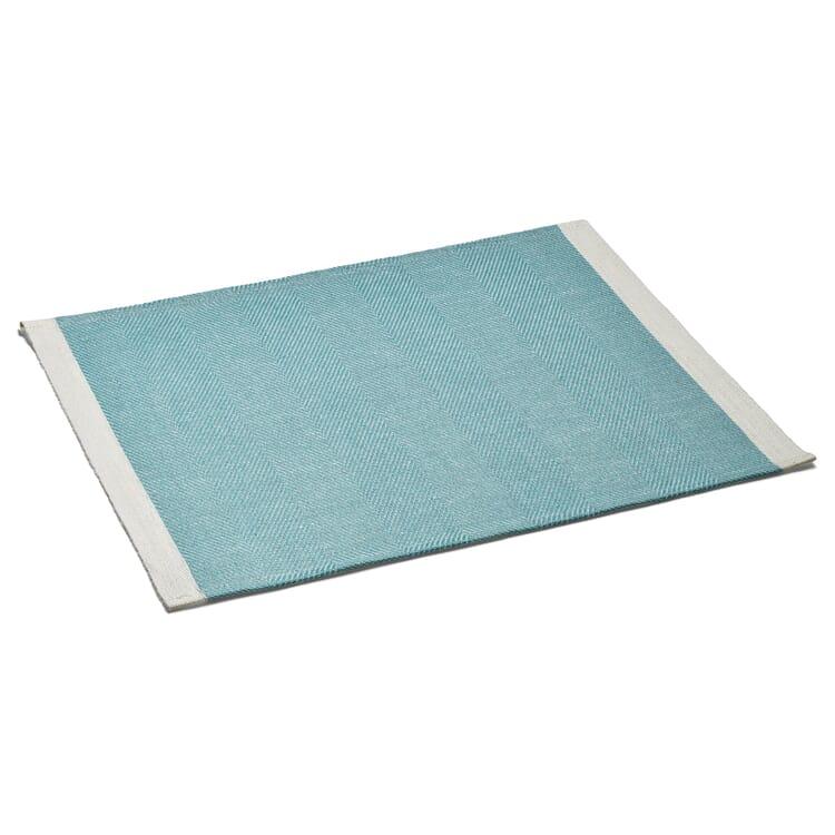 Finnish Place Mat Made of Linen, Aqua