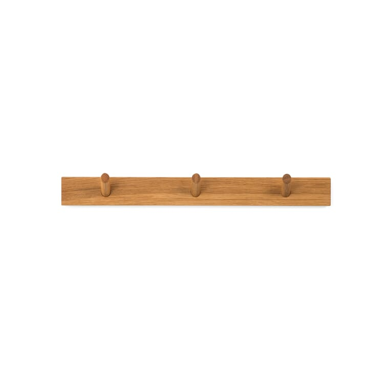 Coat Hook Bar Made of Oak Wood