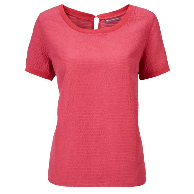 HempAge Damen-Blusenshirt, Kirschrot