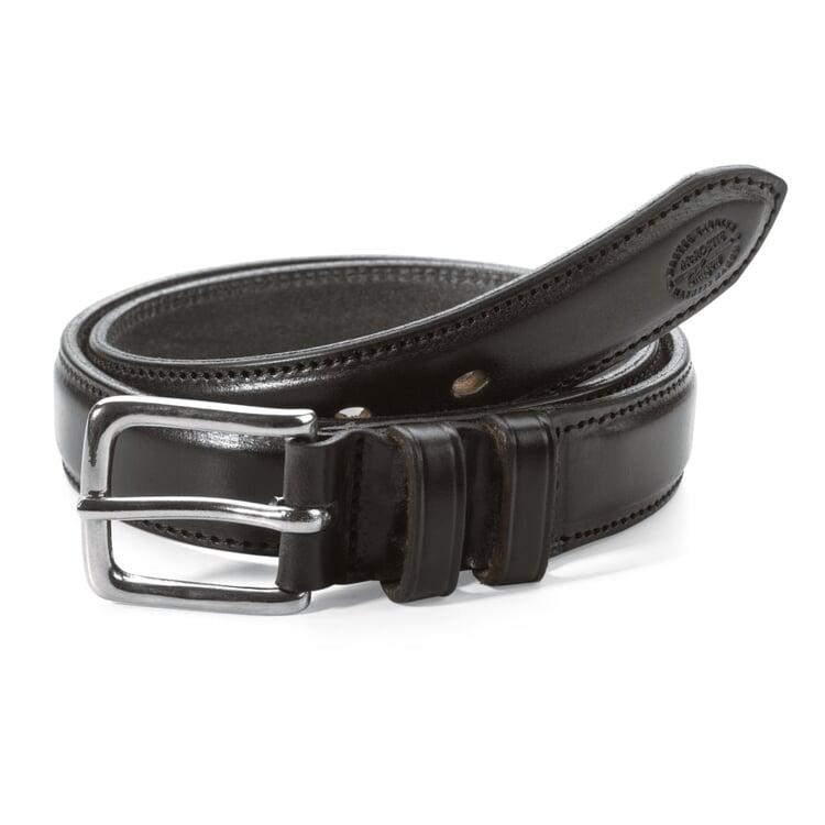 McRostie Saddle-Stitched Belt Black