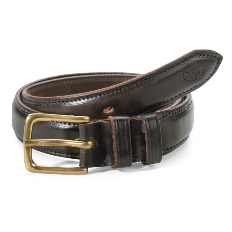 McRostie Saddle-Stitched Belt, Brown