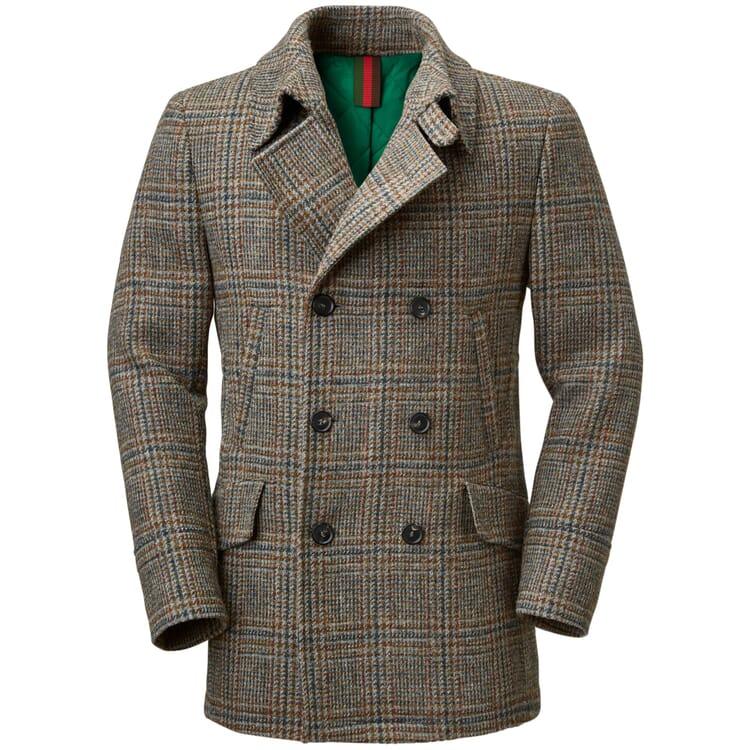 Men's Pea Coat Made of Harris-Tweed by Kastell