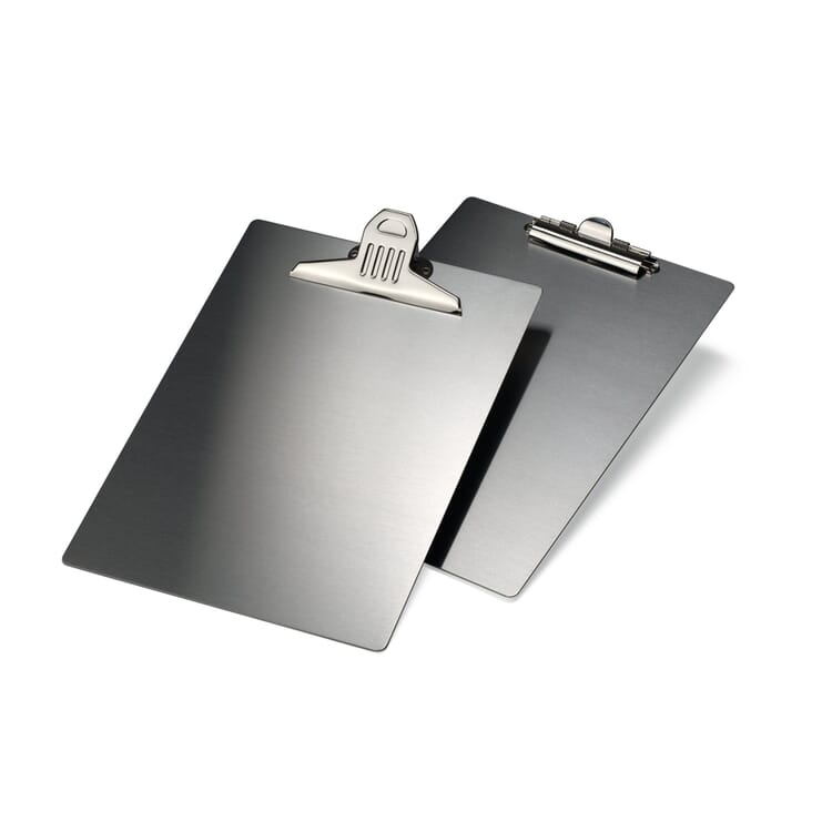 Stainless Steel A4 Clipboard, Large