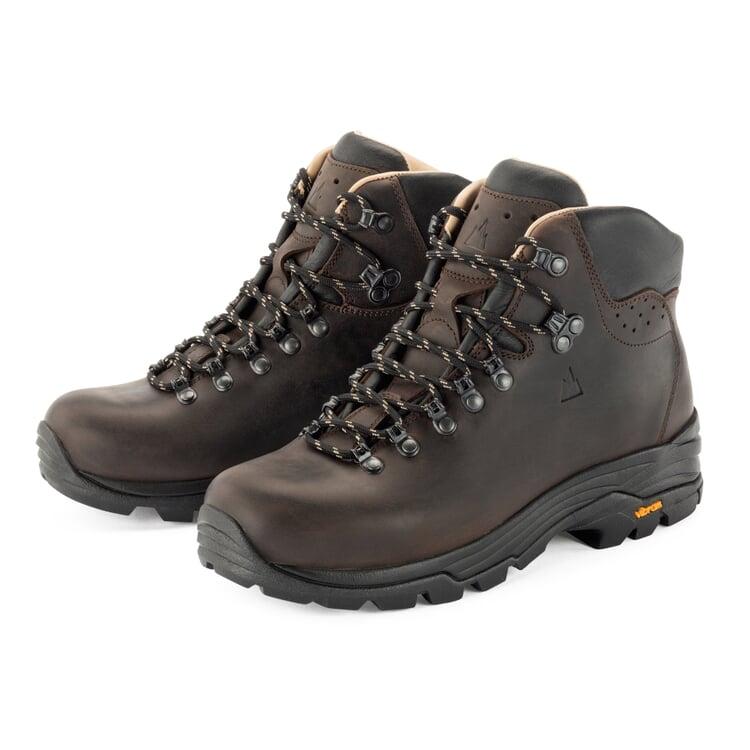 Berghen Cow Leather Hiking Shoe Dark brown