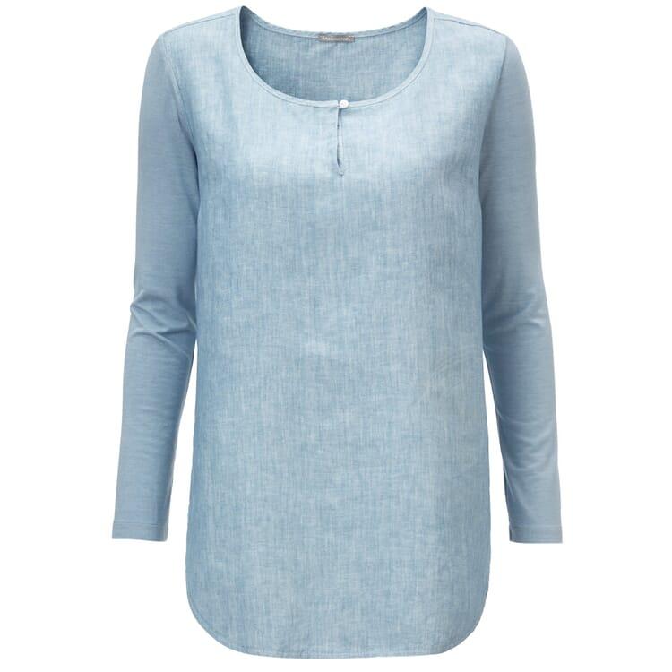 Manufactum Damen-Blusenshirt, Blaugrau