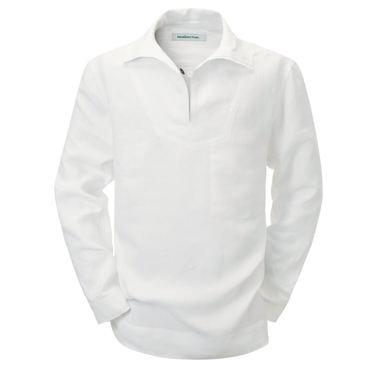 Linen Fisherman's Shirt White
