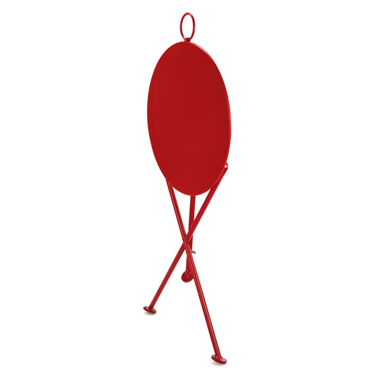 Folding Bistro Table Made of Steel, Red