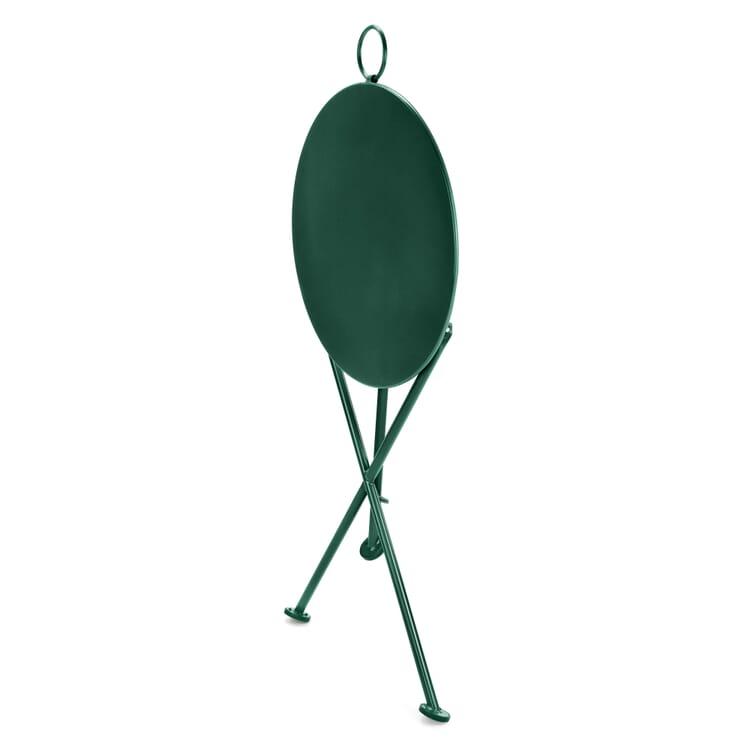 Folding Bistro Table Made of Steel, Green