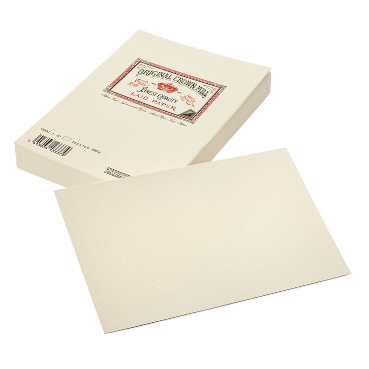 Briefkarte Crown Mill Vergé