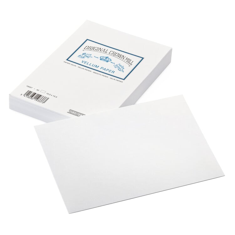 Correspondence Card Crown Mill Velin