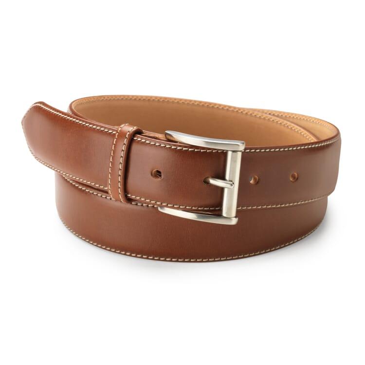 Kreis Three-Layer Cowhide Belt, Medium Brown