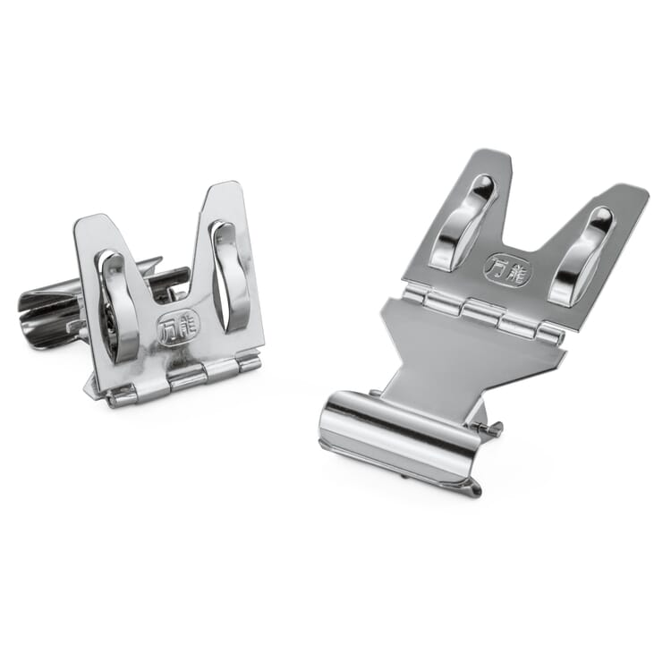 Card and Label Holder with Hinge and Clamp